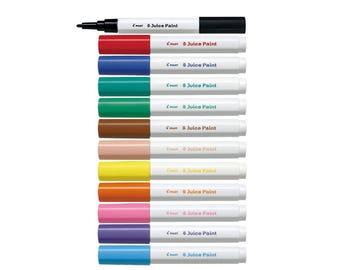 12 Assorted Colors Full Set - Pilot Juice Paint SJP-240F-12C Fine Bullet Tip 12-Color Paint Markers