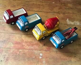"Vintage 4.5"" Tonka - 4 Truck Set"