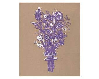 Flower Bouquet, Screenprint, 3 Color Variations