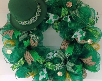 St. Patrick's Day/Holiday Wreath/Front door decor