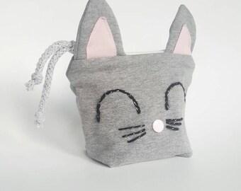 HALF PRICE SALE  Cat coin purse, cat zippered purse, kitten pouch, cat gift, money purse, phone purse, cat lover