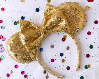 Yellow Gold Sequins Ears