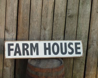 Farm House reclaimed wood sign country farmhouse fixer upper style