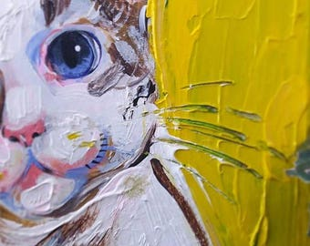 "White Cat - Painting - ""Ilene"""