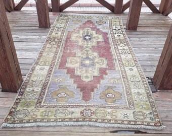 Vintage Rug Anatolian Turkish Handmade Rug Floor Rug Turkish Rug Turkish Area Rug Anatolian Rug  89 x44 inches