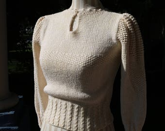 70s Ivory Knit Sweater