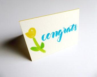 Congrats Card    Card & Envelope Set