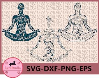 60 % OFF, Yoga SVG, Yoga Teacher SVG, Meditation Svg, Png, Eps, Dxf, Lotus flower Svg, Yoga Silhouette,Instant Download, Yoga Zentangle