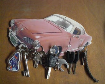 VW KARMANN GHIA vintage personalised key hook wall key holder