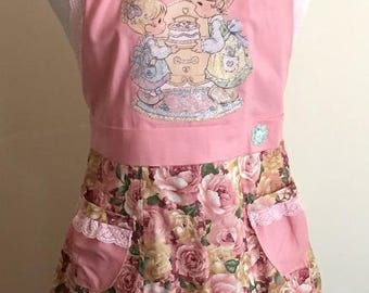 SALE! Sweet Roses Girl's Apron