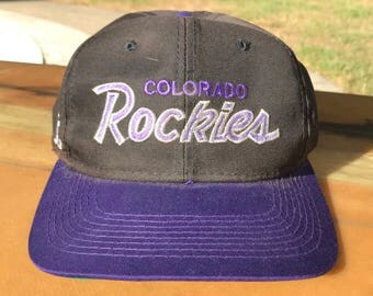 Vintage Colorado Rockies MLB Sports Specialties Snapback Hat OS One Size snap back baseball script hat The Twill