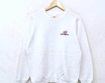 new balance jumper. new balance vintage 90\u0027s smalllogo embroidery mens sweatshirt pullover jumper white colour large new balance