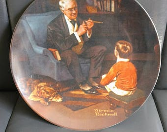 The Tycoon, Norman Rockwell Vintage Collector Plate