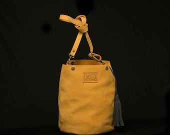 "Leather ""Seul"" Bucketbag Handbag"