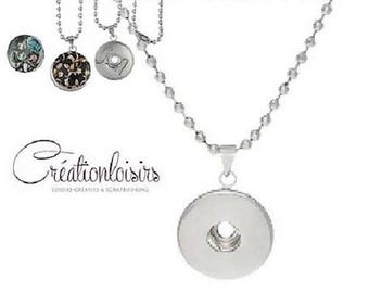 Support for snap Jewelry Silver Circle necklace