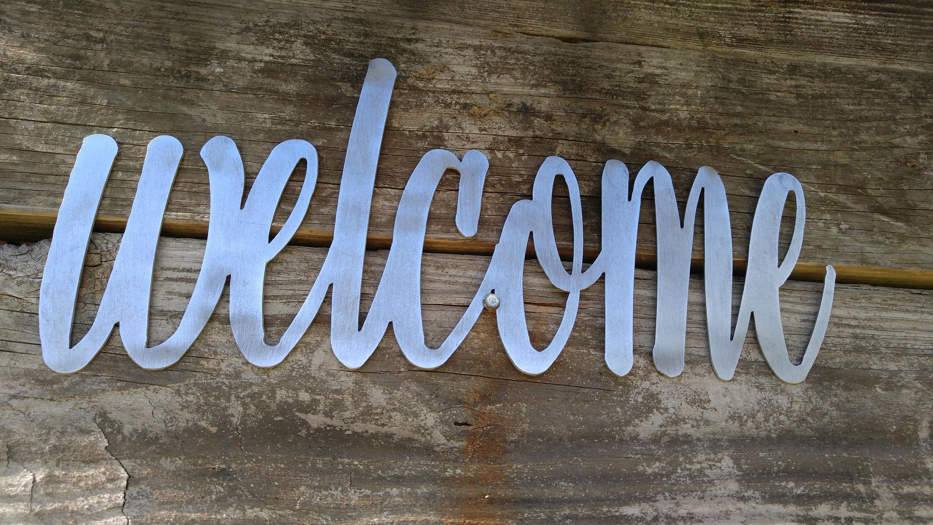 Welcome Sign, Welcome Decor, Farmhouse Wall Decor, Welcome Metal ...