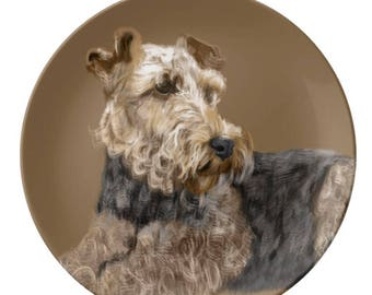 Porcelain Plate, Airedale