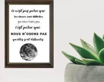 Calligraphy quote poster/print