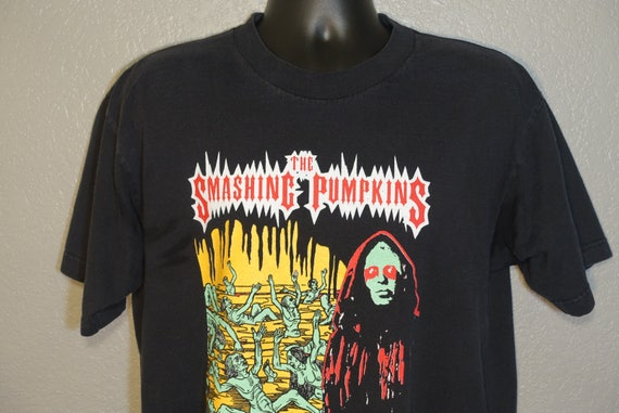 1999 RARE Smashing Pumpkins - The Arising Tour Double-Sided Vintage Concert T-Shirt designed by Jeff Panall