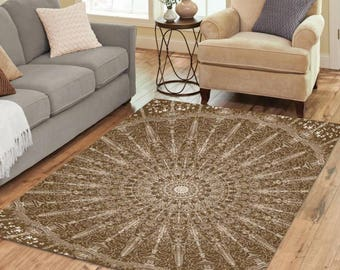 Area Rug 7' x 5' +4 other sizes & 4 colors - The Map - FREE Shipping
