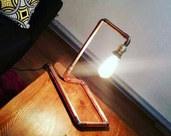 Lamp or floor lamp design copper industrial retro vintage