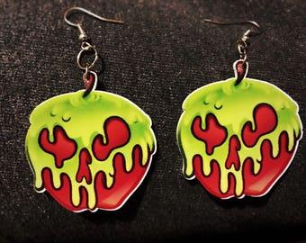 Acrylic Poison Apple Earrings