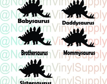 Dinosaur SVG - Dinsoaurus - Boy Birthday SVG - Boy Birthday Party - Dinosaur Birthday Party - Family Cutting File - jpg png svg files