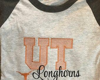 Texas Longhorns Inspired Baseball Tee
