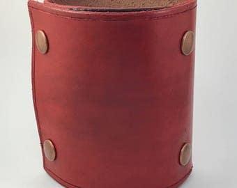 Wrist wallet, leather wrist wallet, wrist wallet cuff, bracelet wallet, wrist ID holder, leather ID holder, travel accessories,