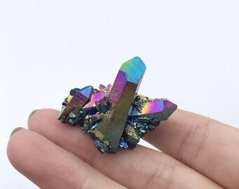 Titanium Aura Quartz Cluster #3