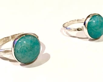 Amazonite & Sterling Silver Ring