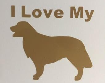 I Love My Golden Retriever Vinyl Decal, Dog Decal, Window Decal, Window Art, Custom Decal, Pet Decal, Laptop Decal, Phone Decal, Pet