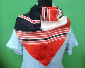J. D'ormont vintage. Silk scarf. Vintage silk scarf. J. D'ormont scarf. J. D'ormont Paris