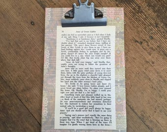 Clipboard with Anne of Green Gables pg 76