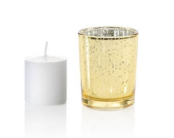 BULK Glitter Votive Holders with BONUS Candles