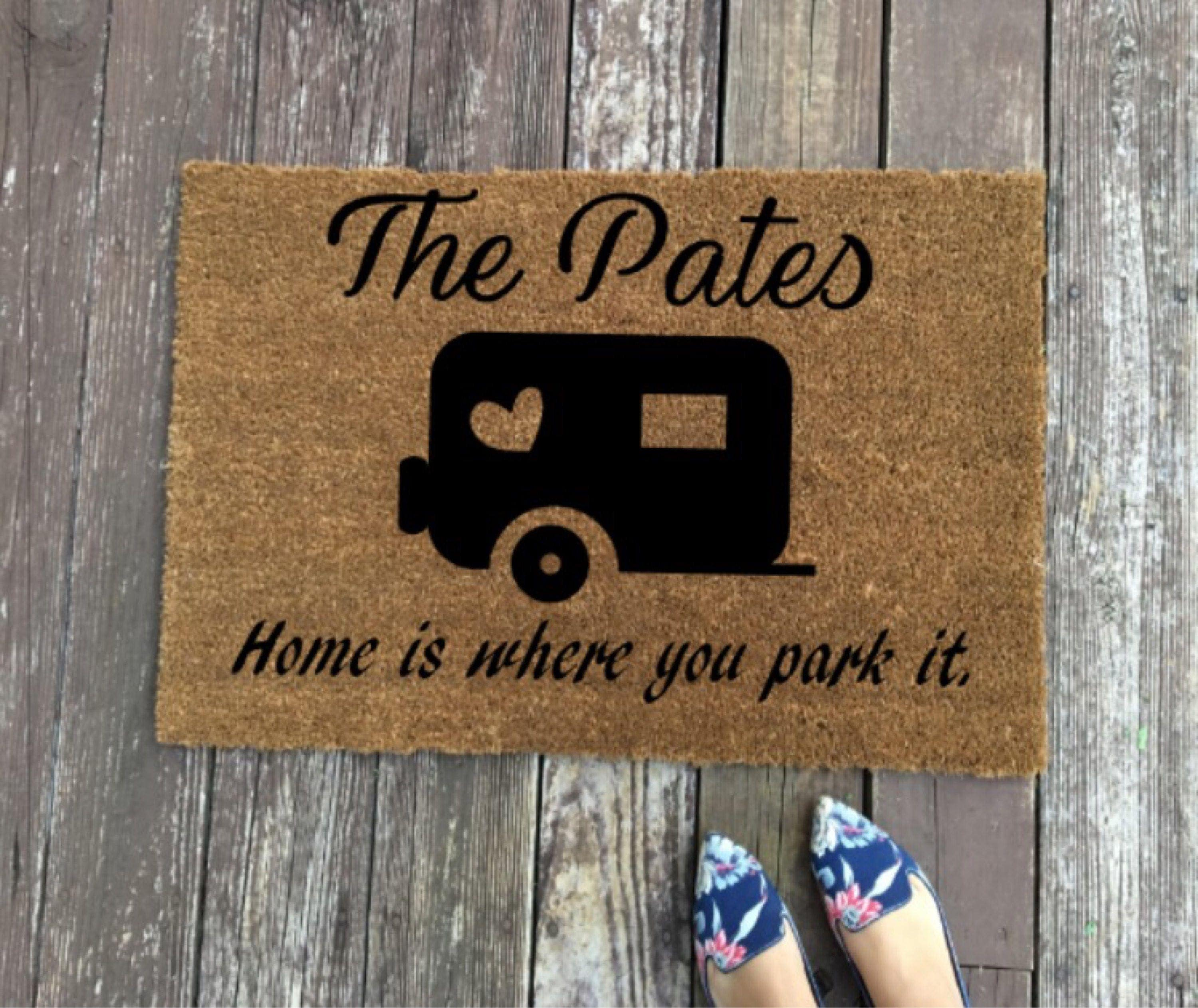 lovely custom front pottery of commercial barn and furniture doormat welcome entry outside charming made outdoor home interior beautiful personalized from door mat mats fabulous