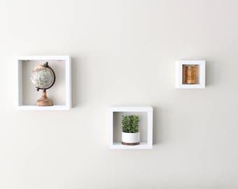 box shelf set square shelves nursery decor