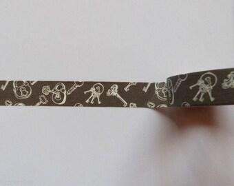 Washi Tape/Masking Tape/Ribbon scrapbooking key adhesive