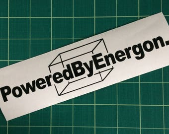 Powered by Energon - vinyl decal