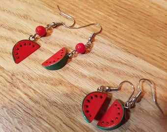 Watermelon earrings / watermelon earrings