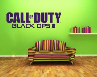 Call Of Duty Black Ops Wall Art Decal, Vinyl Decal, Modern Transfer, Gaming Logo