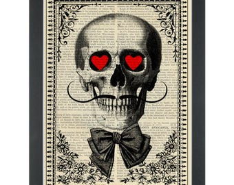 Day of the dead in love Dictionary Art Print