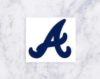 Atlanta Braves A Vinyl Sticker