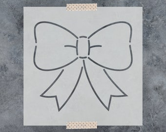 Bow Ribbon Stencil - Reusable DIY Craft Stencils of a Bow and Ribbon