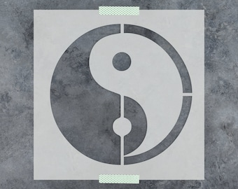 Yin Yang Stencil - Reusable DIY Craft Stencils of a Yin Yang Symbol