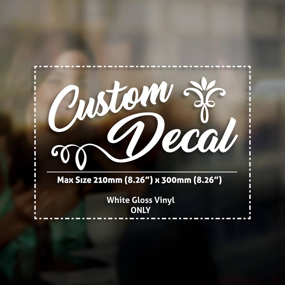 Custom Logo Lettering Personalised Customised Window Car Wall Shop - Custom logo vinyl decals
