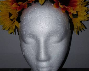 Sunflower Crown, boho crown, floral crown, Festival Wear, Flower Crown, Boho Flower Crown, Sunflowers, Hippie Crown