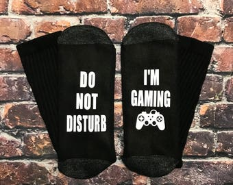 Valentine's day gift for him, Gamer gift, xBox gaming PlayStation I'm gaming Do not disturb socks gift him or her