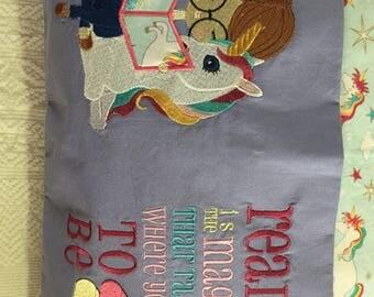 Unicorn reading cushion