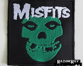 MISFITS === Embroidered Patch / Samhain Black Flag The Casualties Minor Threat Bad Brains Dead Kennedys Exploited